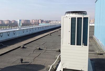 Immagine 2. Posizionamento del Q-ton sul tetto dell'azienda (vista laterale).