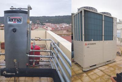 Immagine 2. Particolare dell'installazione di Q-ton con serbatoio, sul tetto dell'hotel.
